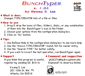 BunchTyper Splash Screen
