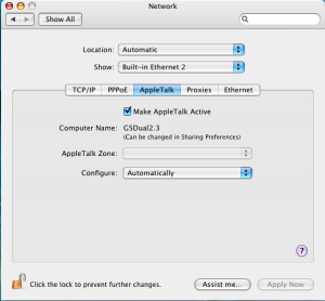 AppleTalk On