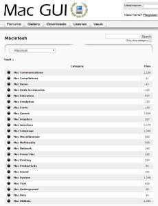 Mac GUI Macintosh Vault Categories