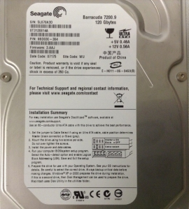 ST3120814A, 120GB, 8MB, Quiet HDD (larger)
