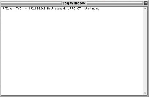 NetPresenz Log Window
