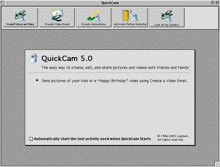 QuickCam Main Window