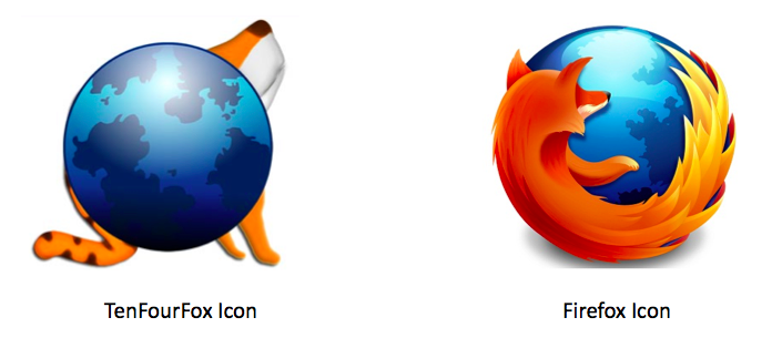 TenFourFox and Firefox Icon Side by Side