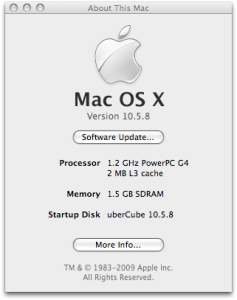 About This Mac (G4 Cube)