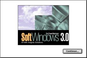 SoftWindows 3.1 Splash