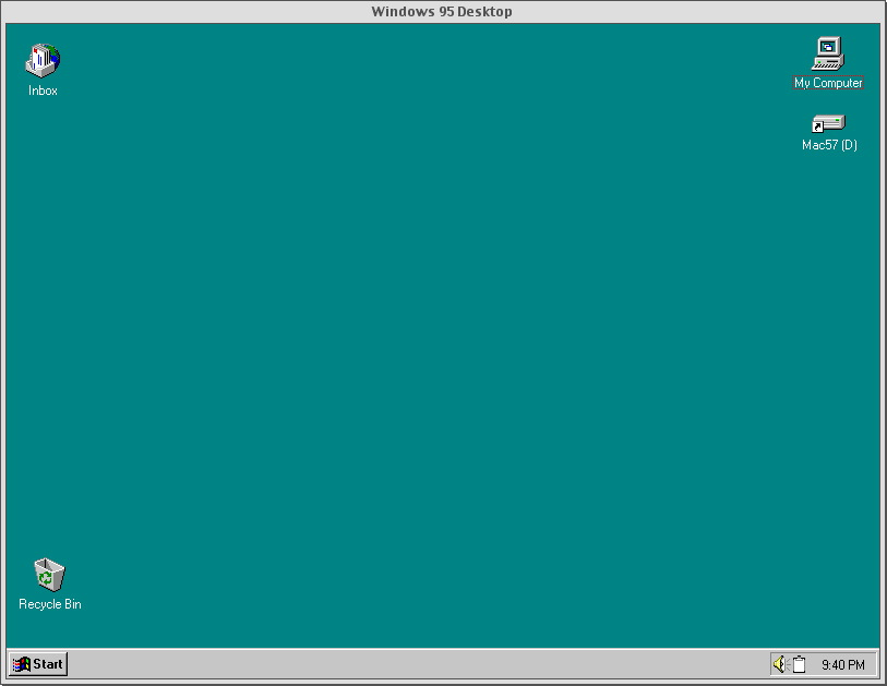 SoftWindows 95 Desktop