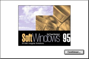 SoftWindows 95 Splash