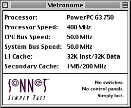 Sonnet Metronome, 400 MHz