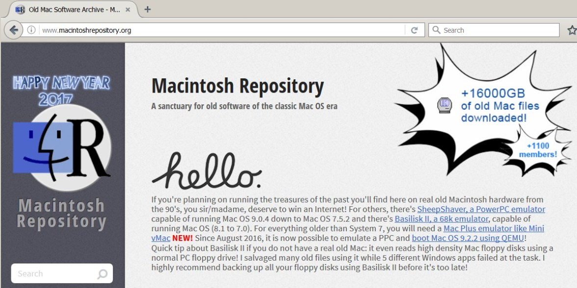 "Macintosh Repository – A Great ""New"" Mac OS Archive"