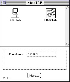 MacTCP Control Panel 01 with LocalTalk and EtherTalk