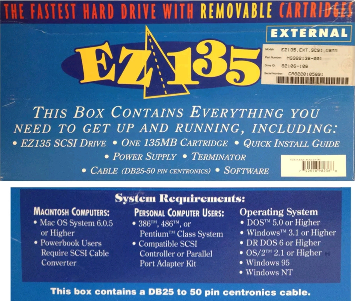 EZ-135 Retail Box Back